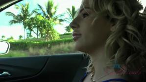 Bella Rose lets you finger her in the car POV style